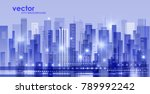 night city illustration with... | Shutterstock .eps vector #789992242