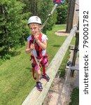 daring young girl walking... | Shutterstock . vector #790001782