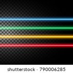 laser rays  high energy loaded... | Shutterstock .eps vector #790006285