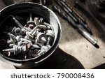 rusty screws at workshop | Shutterstock . vector #790008436