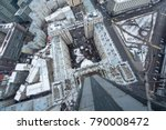 moscow   jan 31  2015  rooftop... | Shutterstock . vector #790008472