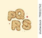 vector cartoon set of alphabet... | Shutterstock .eps vector #790012762