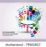 eps10 abstract mosaic vector... | Shutterstock .eps vector #79001827