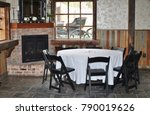 dining area at a wedding... | Shutterstock . vector #790019626