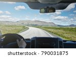 travel to iceland. view from... | Shutterstock . vector #790031875