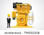 factory industrial machine... | Shutterstock .eps vector #790032328