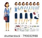 businesswoman   vector cartoon...   Shutterstock .eps vector #790032988