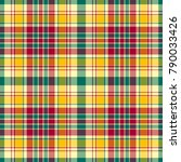 seamless colorful bright plaid... | Shutterstock . vector #790033426