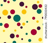 seamless colorful random tossed ... | Shutterstock . vector #790033432