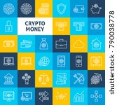 vector cryptocurrency line... | Shutterstock .eps vector #790038778