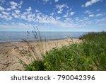 Scenic Sandy Beach Background....
