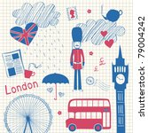 london doodles set | Shutterstock .eps vector #79004242