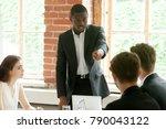 rude impolite african...   Shutterstock . vector #790043122