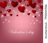 happy valentines day background ... | Shutterstock .eps vector #790044586