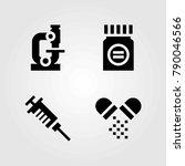 medical vector icons set.... | Shutterstock .eps vector #790046566