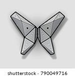 geometric origami butterfly... | Shutterstock .eps vector #790049716