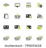 e commerce vector icons for web ... | Shutterstock .eps vector #790053628