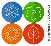 a set of four seasons icons.... | Shutterstock .eps vector #790059325