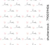 romantic seamless pattern with... | Shutterstock .eps vector #790059406