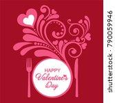 happy valentine's day.... | Shutterstock .eps vector #790059946