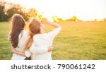 two young women are looking... | Shutterstock . vector #790061242