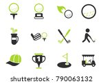 golf vector icons for web and... | Shutterstock .eps vector #790063132
