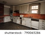 Kitchen Of An Abandoned...