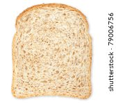 Bread Slice Isolated On White ...