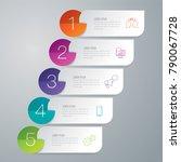 infographics design vector and... | Shutterstock .eps vector #790067728