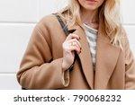 beautiful young stylish blonde... | Shutterstock . vector #790068232