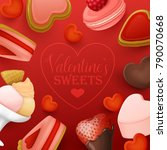 valentine s day background with ...   Shutterstock .eps vector #790070668