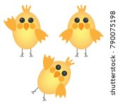 set of cute chickens | Shutterstock .eps vector #790075198