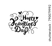 happy valentines day lettering | Shutterstock .eps vector #790079992