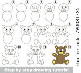 kid game to develop drawing... | Shutterstock .eps vector #790081735