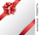red bow for packing gifts.... | Shutterstock .eps vector #790082776