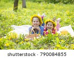 happy children have collected a ... | Shutterstock . vector #790084855
