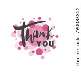 valentine's day cards. thanks.... | Shutterstock .eps vector #790086352