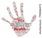 vector conceptual mental health ... | Shutterstock .eps vector #790086472