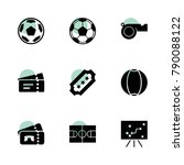 soccer icons. vector collection ...