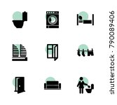 room icons. vector collection...