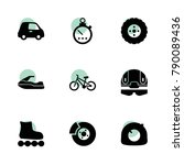 race icons. vector collection...