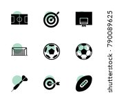 goal icons. vector collection...