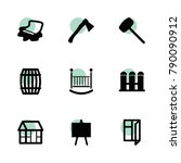 wooden icons. vector collection ...