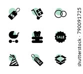 gift icons. vector collection...
