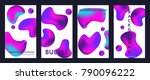 liquid color covers set. fluid... | Shutterstock .eps vector #790096222