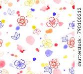 vector seamless pattern for... | Shutterstock .eps vector #790100212