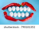 a creative idea for advertising ... | Shutterstock . vector #790101352