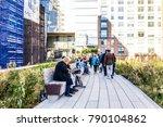 new york city  usa   october 27 ...   Shutterstock . vector #790104862