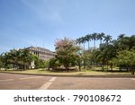 anhangabau valley in downtown... | Shutterstock . vector #790108672