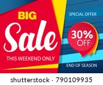 sale banner template design... | Shutterstock .eps vector #790109935